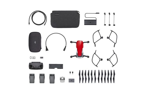 Квадрокоптер DJI Mavic Air Fly More Combo Flame Red для китайского рынка